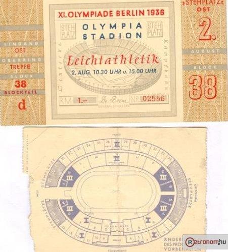 Belépőjegy az Olimpiai stadionba