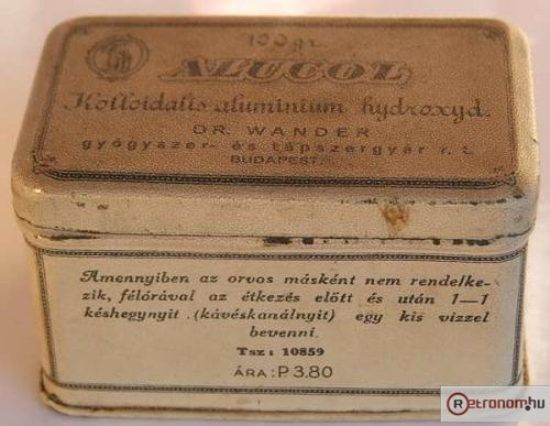 Alukol gyógyszeres doboz