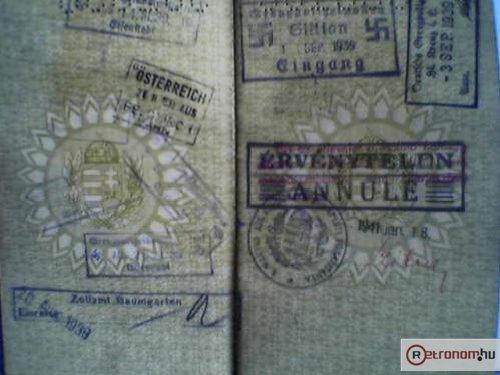 Magyar útlevél - pecsétek