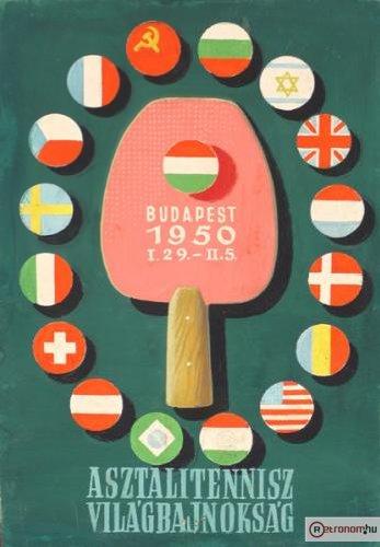 Asztalitennisz VB plakát