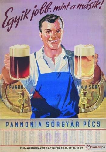 Pannonia Sörgyár naptár