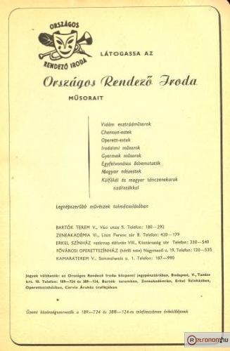 Országos Rendezõ Iroda / ORI