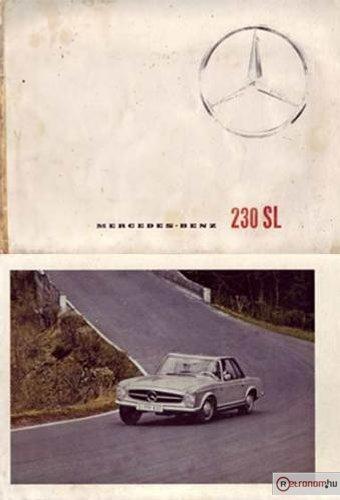 Mercedes Benz 230 SL katalógus