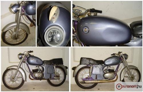 Danuvia motorkerékpár 125 ccm