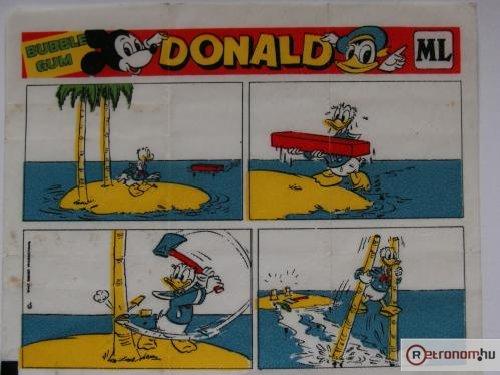 Donald rágógumi papír