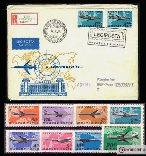 Légiposta boriték bélyeg