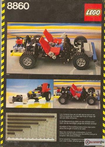 Lego motoros autó