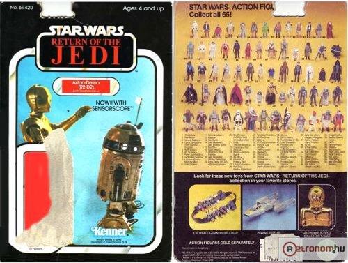 Star Wars bábu csomagolás