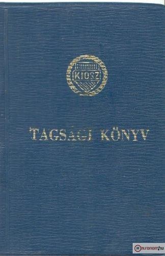 KIOSZ tagsági könyv