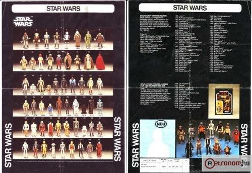 Star Wars bábu katalógus