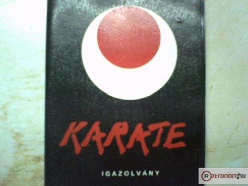 Karate igazolvány