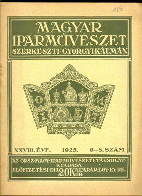 Magyar Iparmûvészet címû folyóirat