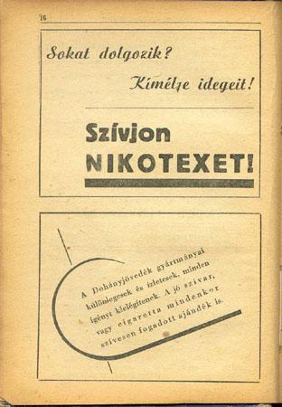 Nikotex cigaretta reklám