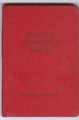 Magyar Dolgozók Pártja Tagsági Könyv