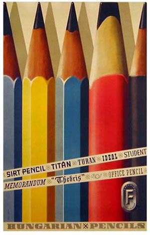 Hungarian pencils plakát