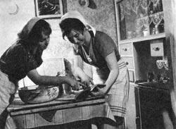 Lányok főznek