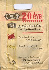 Ofotért reklámzacskó
