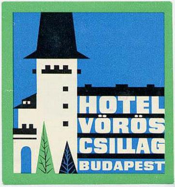Hotel Vörös Csillag bőröndcímke