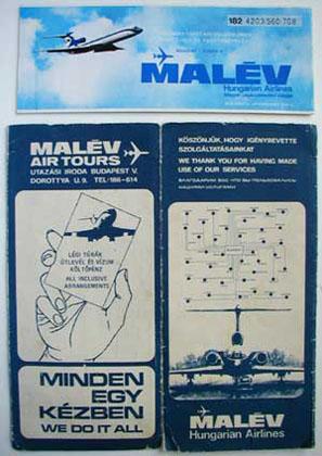 Malév repülőjegy