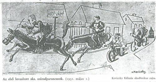 Keviczky Kálmán karikatúra 1931-ből