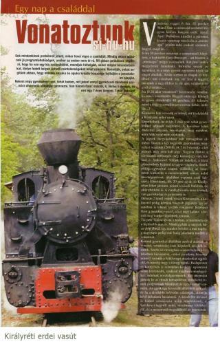 MÁV vonat Királyréti kisvasút