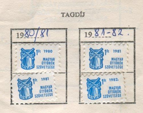 Kisdobos tagsági bélyeg
