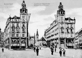 Kigyó tér Klotild paloták