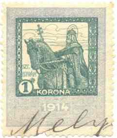 Illetékbélyeg 1914-ből