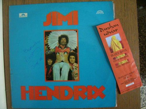 Jimi Hendrix lemez dedikálva