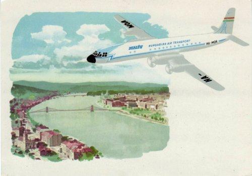 Malév IL-18 repülőgép reklám