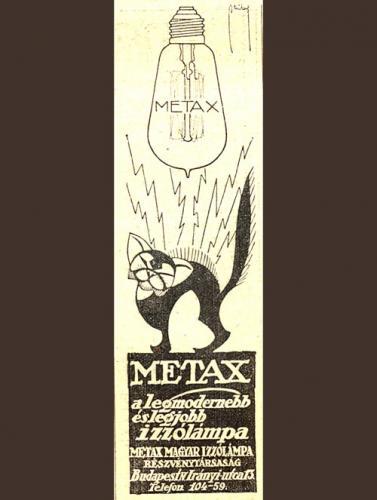 Metax izzólámpa