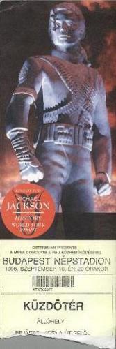 Michael Jackson koncertjegy