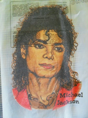 Michael Jackson felsőre vasalható matrica