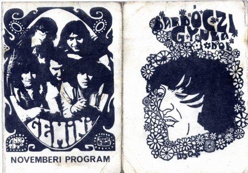 Gemini együttes programfüzet