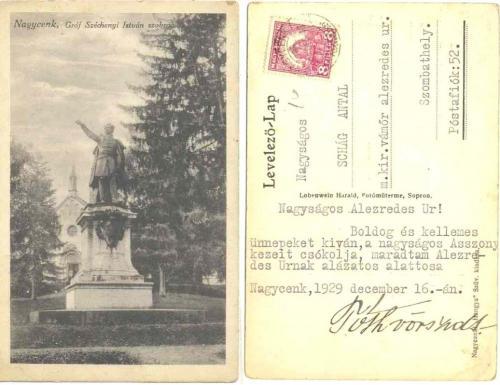 Nagycenk Széchenyi szobor