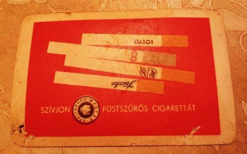Magyar Dohányipar kártyanaptár