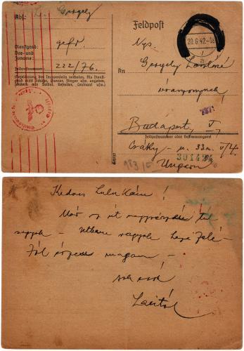 Német Birodalmi tábori levelezőlap