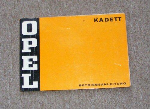 Opel Kadett kezelési utasítás