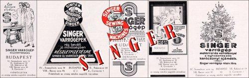 Singer varrógép reklámok