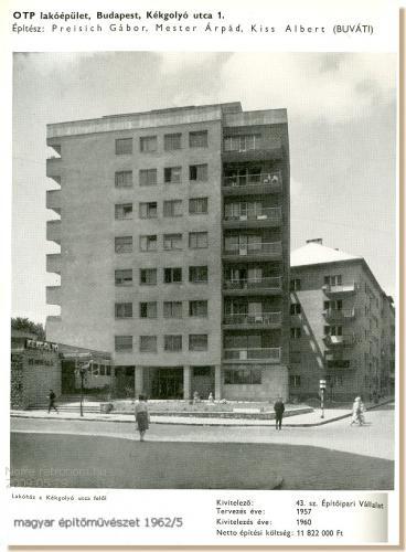 OTP lakóépület Budapest Kékgolyó utca