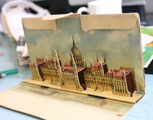 Parlament képeslap 3D