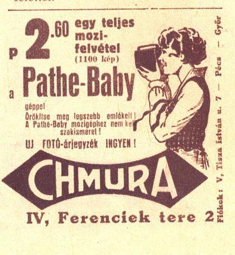 Chmura Pathé-baby filmfelvevő