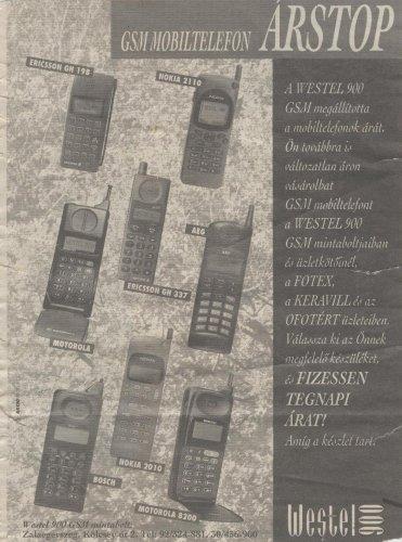 Westel 900 készüléklista