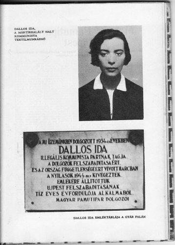 Dallos Ida és emléktáblája