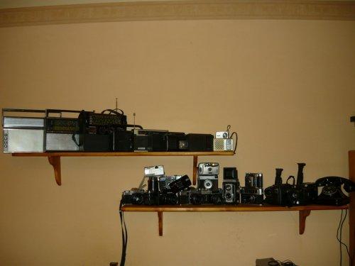 Retró rádió és fényképező gyűjtemény