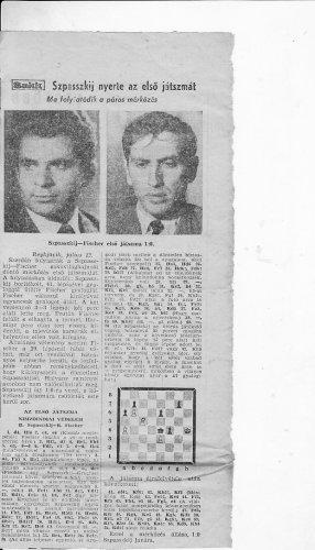 Tudósitás A Szpasszkij-Fischer sakkvilágbajnoki döntőről
