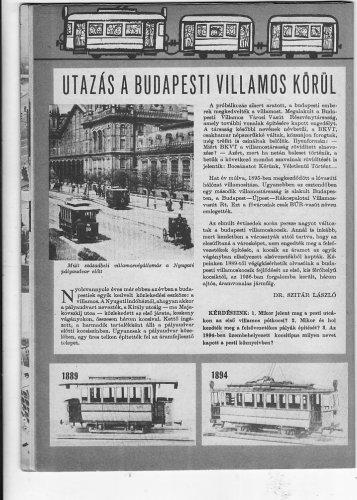Utazás a budapesti villamos körül