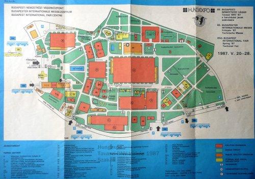 BNV térkép 1987 tavaszi - előlap