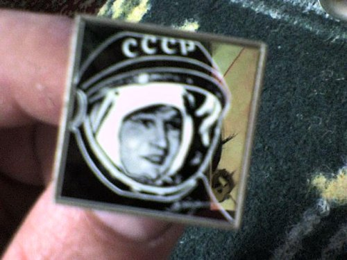 CCCP űrhajós kitűző