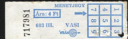 Vasi Volán buszjegy